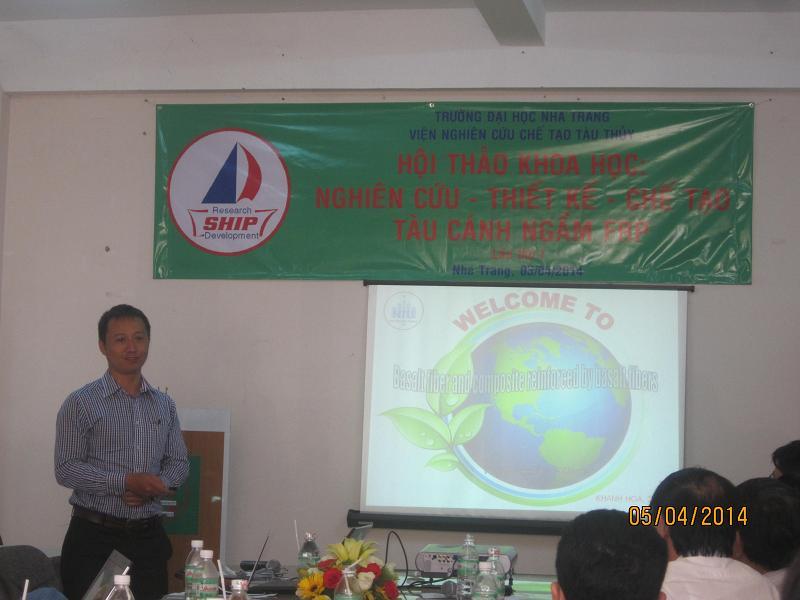 TS Trần Doãn Hùng báo cáo chuyên đề: Vật liệu composite cốt sợi Bazal