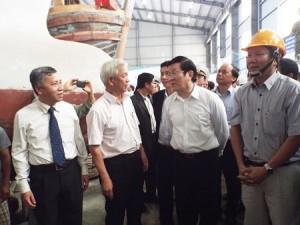 Chủ tịch nước thăm và làm việc tại UNINSHIP