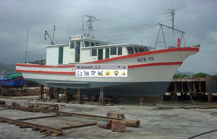 Tàu NCB 95 - Sản xuất năm 1995 - Viện Hải Dương Nha Trang