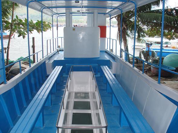 Hệ thống đáy kính của tàu Phát Hoàng Long 02